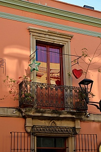 Valentine's hearts in Oaxaca, Mexico.