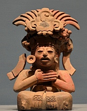 Clay figure at Monte Alban, Oaxaca, Mexico