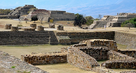 Archaeological site at Monte Alban, Oaxaca, Mexico