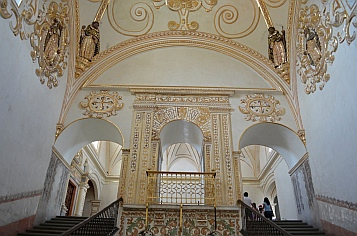 Gold leaf decoration at Oaxaca Cultural Center in Santo Domingo Cathedral