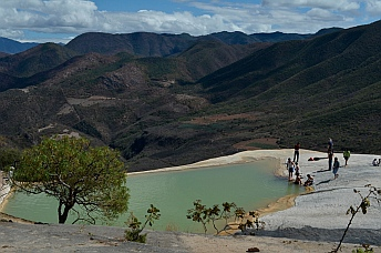 Swimming pools in Hierve el Agua, Oaxaca, Mexico