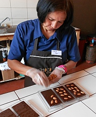 Hand made chocolates in Antigua, Guatemala