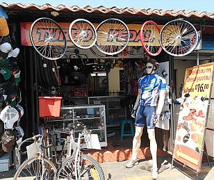 Bike shop in Antigua, Guatemala