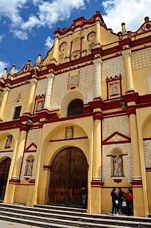 The cathedral in San Cristobal de las Casas, Chiapas, Mexico