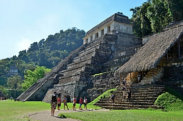 Temple XIII and Temple of the Inscriptions, Palenque, Mexico