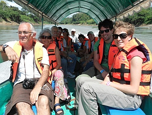 Yaxchilan & Bonampak Tour - We all pile into our boat for an hour's journey to Yaxchilán.