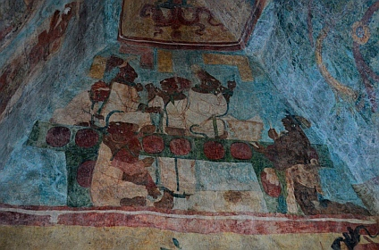 Yaxchilan & Bonampak Tour - Room 3:  Nobelwomen pierce their tongues in ritual blood-letting.