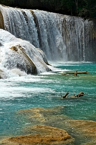 Crashing water, Agua Azul waterfalls, Chiapas, Mexico