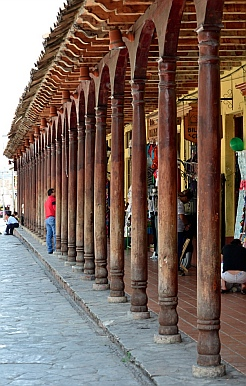 Patio of wooden columns, Comitán, Chiapas, Mexico
