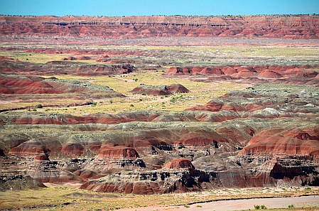 Spectacular views at Painted Desert in Petrified Forest National Park, Arizona.