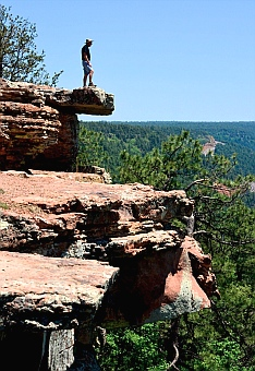 Looking out over the Mogollon Rim, Arizona.