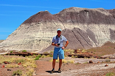 We hike the Long Logs trail at Petrified Forest National Park, Arizona.