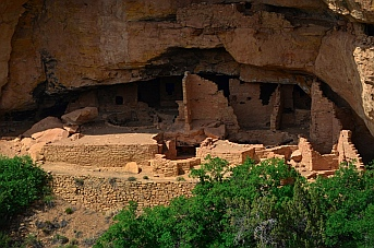 You'll need a telephoto lens or binoculars to see the cliff dwellings across the canyon at Mesa Verde.