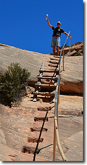 More ladders and steep hiking at Natural Bridges National Monument.