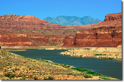 Colorado River, Bicentennial Highway, Route 95 Utah.