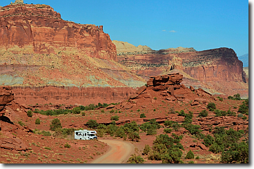 Vivid colors come to life at Capitol Reef National Park: Sunset Point.