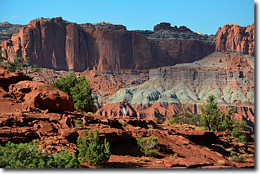 Sunset Point at Capitol Reef National Park.
