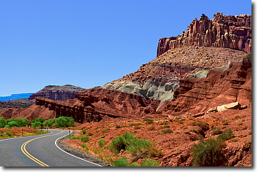 Spectacular views along Capitol Reef's