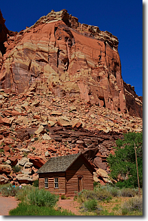 Pioneer Schoolhouse at Capitol Reef.