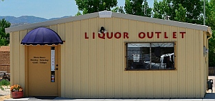 Liquor outlet store, Utah.