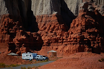 Campground at Goblin Valley, Utah