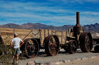 Borax mining at Death Valley National Park CA California