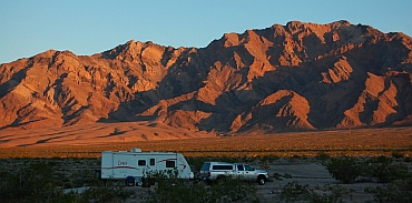 Great RV boondocking outside Death Valley CA California