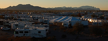 Quartzsite, Arizona RV show