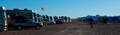 Boondocking the high life with Alpine Coach in Quartzsite, AZ