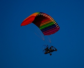 Ultralights flying over Quartzsite, AZ