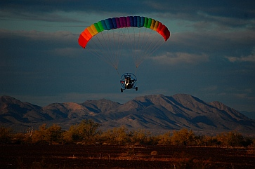 Ultralights in flight in Quartzsite, Arizona