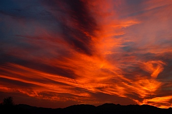 Spectacular sunset in Quartzsite, Arizona