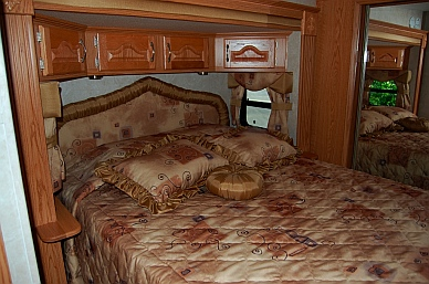 RV bedroom slidout fifth wheel trailer